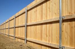 Strong, secure cedar fence
