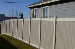 Vinyl fencing two tone