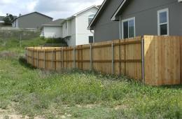 Residential wood fencing in Selah