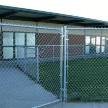 School chain link fencing